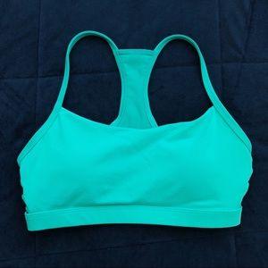 Fabletics Turquoise Blue Strappy PERI Sports Bra